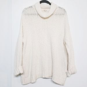 Eileen Fisher white turtle neck  size L